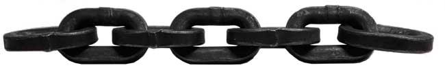 lanac kvadratni g80, crni, kvadratne karike